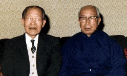 Professor Tien Lung and Grandmaster Chang Dung-Sheng meet in Sweden 1982